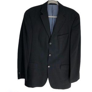 VTG Hugo Boss black pure virgin wool blazer jacket